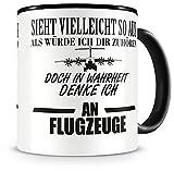 Samunshi® Ich denke an Flugzeuge Tasse Kaffeetasse