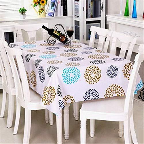 Stain stofdicht Doek Decoratieve tafellaken Tafelkleed Met Dandelion Pattern, PVC Tafelkleed Olie-Proof/Waterdichte Vlekbestendig/Meeldauw-Proof (Size : 137 * 250cm)