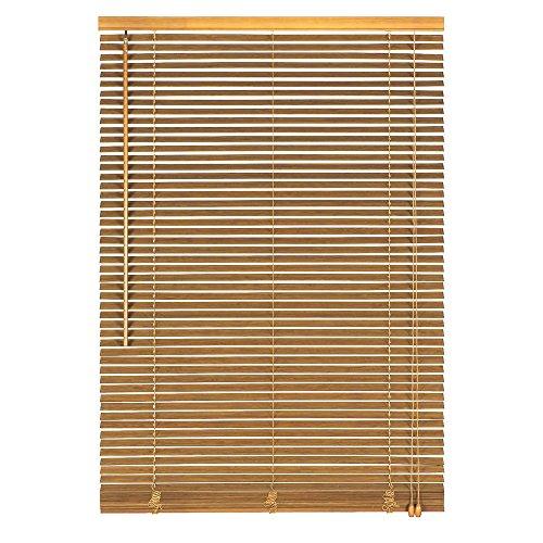 Easy-Shadow Holzjalousie Holz-Jalousie Bambus Jalousette Echtholz Rollo Jalousette 70 x 120 cm / 70x120 cm in Farbe natur - Bedienseite rechts // Maßanfertigung