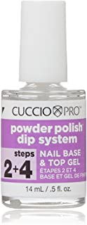 Cuccio Pro Powder Polish Dip System, Step 2 + 4 Nail Base & Top Gel, 0.5 Ounce