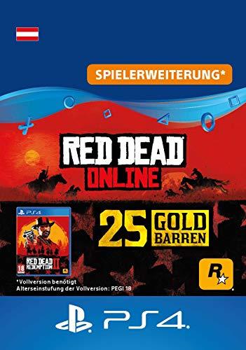 Red Dead Redemption 2: 25 Goldbarren (DLC) - PS4 Download Code - österreichisches Konto