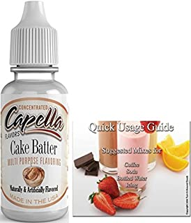 Capella Flavor Drops Concentrated & Quick Start Guide Bundle (Cake Batter, 13ml)