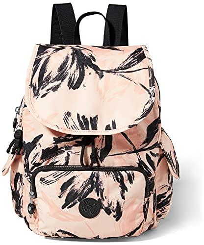 Kipling Damen City Pack S Rucksack Handtasche, Koralle/Blume, One Size