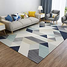 Insun Alfombra de Diseño Escandinavo Elementos Moderno Alfombra de Salon Antideslizante Lavable Estilo 5 140x200cm