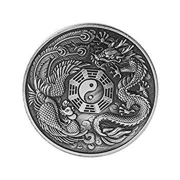 BESPORTBLE 1Pc Memorial Coin Dragon and Phoenix Decor Collection Souvenir  As Shown