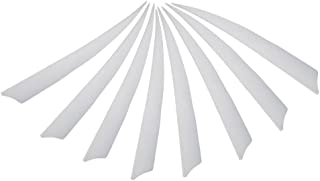 """5"""" DIY Turkey Feather Fletching Real Archery Hunting Arrows Fletching Feathers White Left Wing 36pcs"""