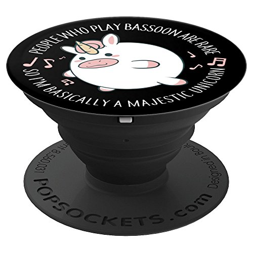 Bassoon Player PopSocket Rare Unicorn Marching Band Musician PopSockets Grip and Stand for Phones and Tablets