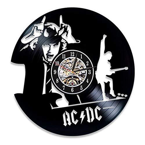 LTOOD AC.DC Disco de Vinilo Reloj de Pared salón Reloj de Pared Reloj Wish Ebay, 12 Pulgadas, Estilo 3 Negro