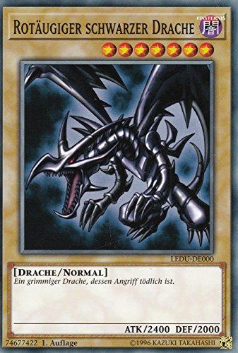 LEDU-DE000 - Rotäugiger Schwarzer Drache - Common - Yu-Gi-Oh - Deutsch - 1. Auflage