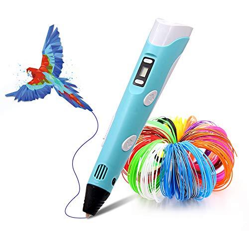 Lihuachen, penna 3D con PLA 27 colori – Set di penne 3D per bambini con filamento PLA da 265 piedi, penna 3D come regalo creativo per adulti, appassionati di scarabocchiare, fai da te e premere 3D