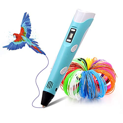 Bolígrafo 3D LIHUACHEN con PLA 27 colores - Juego de bolígrafos 3D para niños con colores PLA 265 pies de filamento PLA, bolígrafo 3D como regalo creativo para adultos, hacer manualidades y prensa 3D