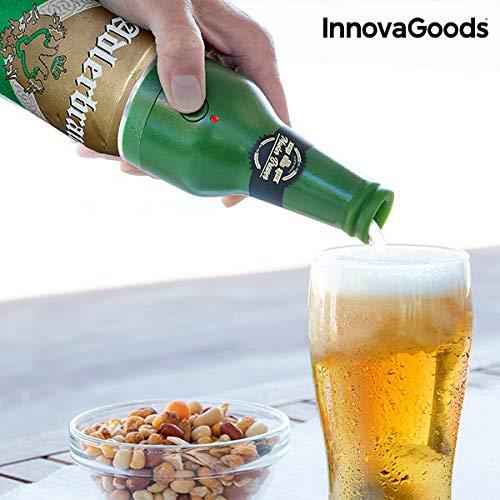 Innovagoods bb_V0100978 Espumador De Cerveza Ultrasónico Para Latas, Verde