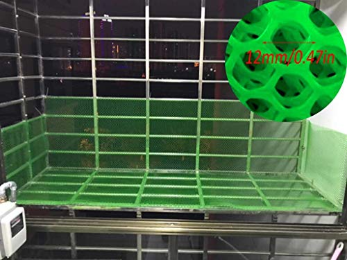 Heavy Duty Green Safety Barrier Mesh Fencing Green Garden Netting Plastic Safety Net Fencing Poultry Breeding Netting Chicken Net (Color : Green, Size : 1.5x6m)