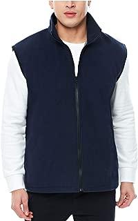 APRAW Men's Polar Fleece Vest Outerwear Sleeveless Full Zip