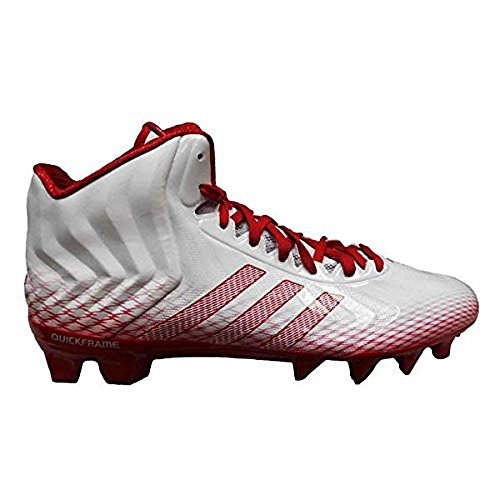 adidas Men's Crazyquick Mid Football Cleats (13.5, Running White/Unired/Unired (C76143))
