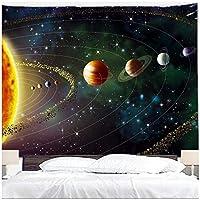 プラネットタペストリー宇宙空間ギャラクシーユニバースプリントタペストリー寝室用壁掛け壁掛けリビングルーム寮家の装飾150x130cm