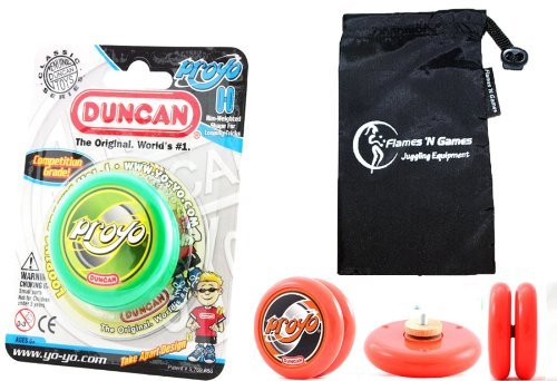 Duncan PROYO YoYo (Green) Pro String Trick YoYos with Travel Bag! Pro YoYos For Kids and Adults