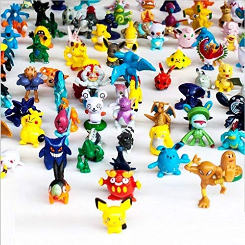 Inked and Screened Set of 144pcs 2-3CM Collectable Poke Mini Action Figures mon Heroic Figure Combination