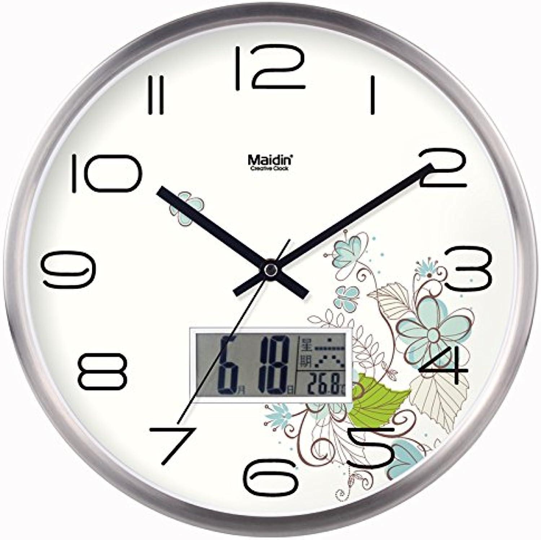 calidad garantizada Wall clock WERLM Reloj Reloj Reloj de Parojo Decoracion Mute Cartoon Relojes Reloj de Cuarzo es un Restaurante Familiar Office Room es el Lugar Ideal para Cualquier habitación 16En, Metal Calendario versión  tomamos a los clientes como nuestro dios