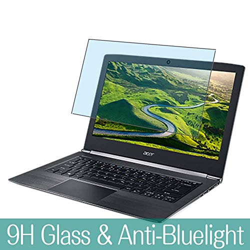 Synvy Anti Blue Light Tempered Glass Screen Protector for ACER Aspire S5-371 / S5-371T 13.3' Visible Area 9H Protective Screen Film Protectors (Not Full Coverage)