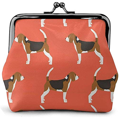 Beagles Beagle Leuke Hond Huisdier Lederen Coin portemonnee Kisses Lock Change Pouch Vintage Sluiting Gesp Portemonnee