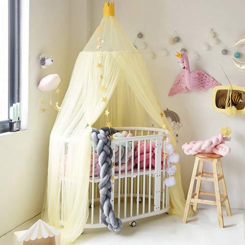 Nibesser Baldachin für Kinder/Babys 100% Polyester Gewebe Romantischer Betthimmel Moskitonetz Kinderbett für Kinderzimmer Hohe 240cm