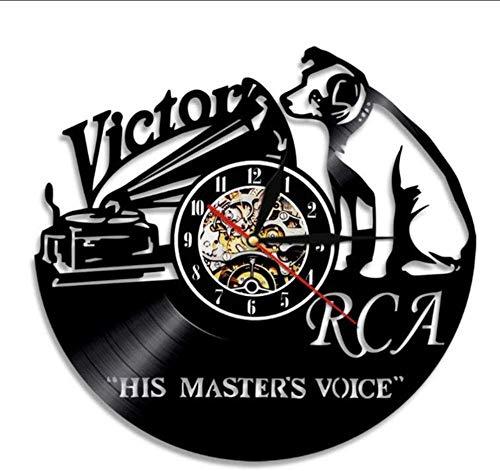 YZXJ Victor RCA Vinyl Record Klok Leuke Hond Handgemaakte Gift Home Decor Vintage Ophangen Muur Kunst Tijdstuk Klok
