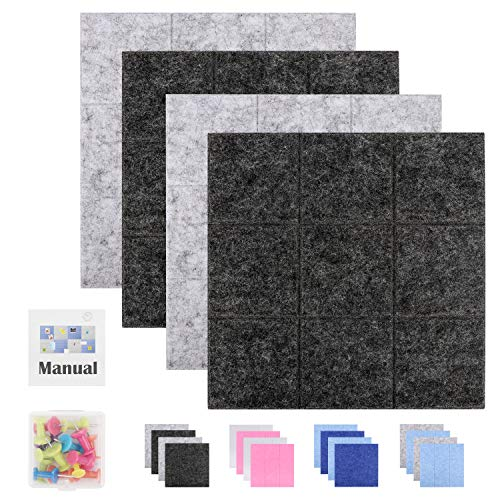 """SEG Direct 11.8"""" x 11.8"""" Large Square Felt Pin Board for Wall 