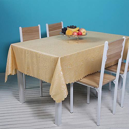YuHengJin Mantel de Shabby Nordic Lavable Diseño Ligero y Resistente Al Desgaste para Las Mesas Rectangular Manteles Amarillo 160×200cm