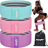 Resistance Bands for Legs and Butt, Exercise Bands Booty Bands Hip Bands Wide Workout Bands Sports for Squat Glute Hip Training (Set of 3) (Green/Pink/Purple)