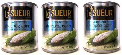 Le Sueur Tender Whole Kernel White Shoepeg Corn (Pack of 3) 11 oz Cans