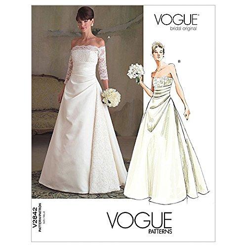 Wedding Dress Sewing Patterns Off the Shoulder
