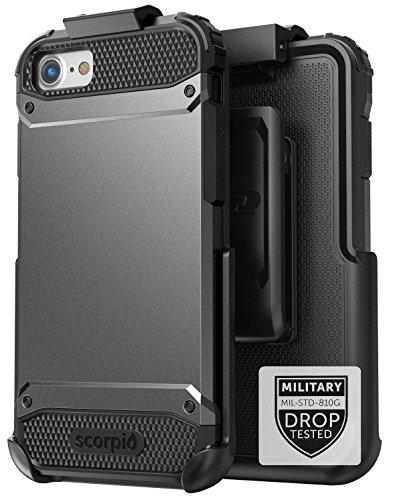 spec iphone 7 plus cases Encased iPhone 7 Plus Belt Case Black - Gray Military Spec Ultra Tough Protection w/Holster Combo for Apple iPhone 7 Plus 5.5