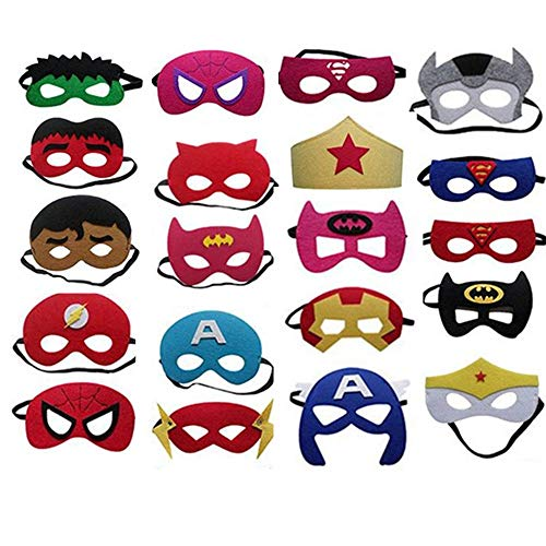 BJ-SHOP Superhelden Masker, Superhero Cosplay Party Maskers Half Maskers voor kinderen Party Tas fullstoffen