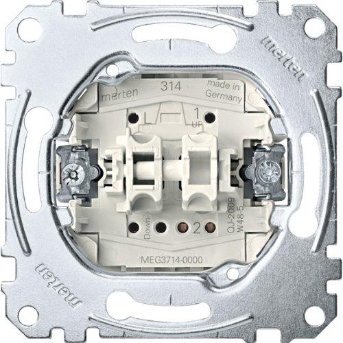 Merten MEG3714-0000 Rollladenschalter-Eins. mit Zusatzkontakt, 1-polig, 10 A, AC 250 V, Steckklemmen