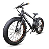 NAKTO 26' 350W Fat Tire Electric Bicycle Mountain Snow Beach Sporting Shimano 6 Speed Gear EBike...