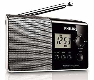 Philips AE1850 Radio FM numérique compacte avec haut-parleur intégré, prise audio, grand écran LCD, Noir (B001B7FEAM) | Amazon price tracker / tracking, Amazon price history charts, Amazon price watches, Amazon price drop alerts