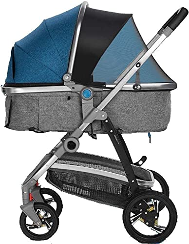Cochecito liviano del cochecito del cochecito del cochecito de los cochecitos del cochecito portátil del carruaje infantil con la silla de shock resistente a los golpes para el recién nacido y la cami