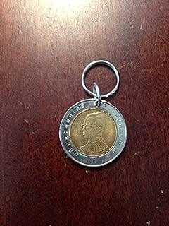 Thailand 10 Baht coin keychain