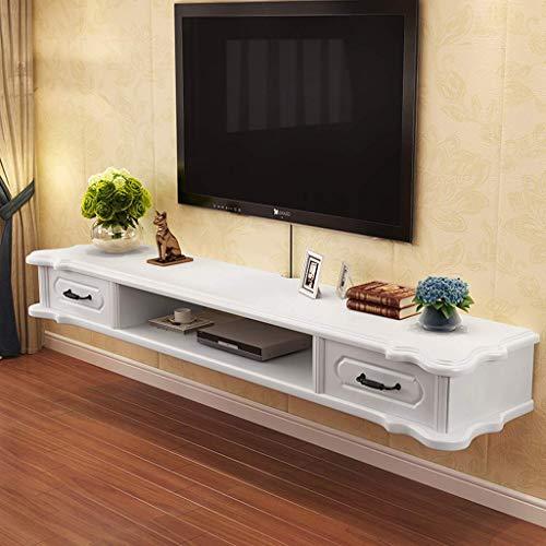 ZXYY TV-meubel, wandrek, drijvende planken, wandkast, hangdecoratie, DVD-speler, router, plank, opslagruimte, TV-meubel, 1,2 m 120cm-white