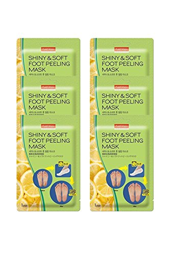 Multi Pair Foot Peeling Mask Set By Purederm - Exfoliating Foot Peel Spa Mask For Baby Soft Skin W/Sunflower Seed Oil & Lemon Extract(3Pair,6Pair and 12Pair) (Pack of 6)