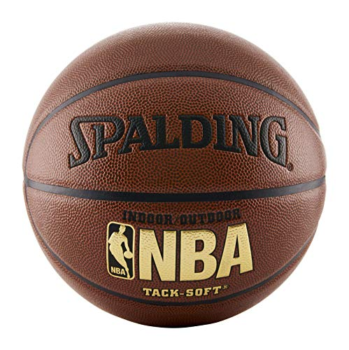 Spalding NBA Tack Soft Indoor-Outdoor Basketball, Brown, Official Size 7 (29.5') (441)