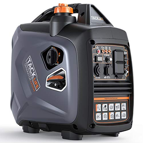 TACKLIFE Portable Inverter Generator, 53 dB Quiet 2250 Surge Watt Portable Inverter Generator, Single-Cylinder, Four-Stroke, Forced air-Cooled, Overhead Valve, EPA&CARB Compliant