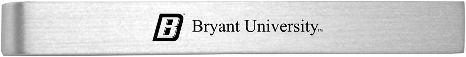 Bryant University-Brushed Detroit Mall Metal sold out Tie Clip-Silver