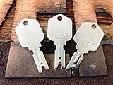 3 Keys- 1430 Forklift Key Works with Hyster Heavy Equipment Ignition Keys Clark Yale Daewoo Hyster Gradall JLG Forklift Key