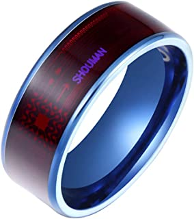 Odetina NFC oura Ring Smart Ring Wearable Technology Unisex Phone Smart Accessories Heartbeat Rings for Couples (Blue7)