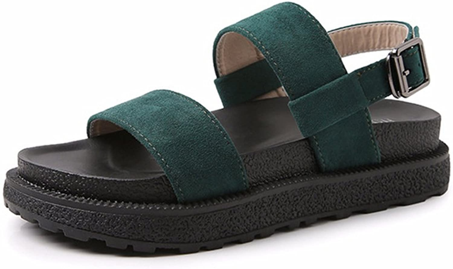 Tuoup Womens Ankle Strap Leather Fashion Sandals Sandles