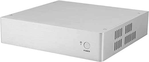 Goodisory DC45 Aluminum Top Cover Thin Mini-ITX Computer Chassis HTPC case (Silver)