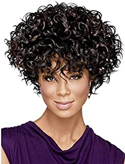 SmartFactory Natural Explosion Synthetic Fiber Small Curly Fluffy Bob Hair Wig For Fashion Girl or Cosplay