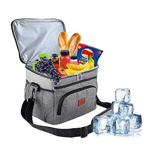 jdiw Sac Isotherme,Repas Déjeuner Portable Bandoulière Grande Capacité Étanche Cooler Bag pour Pique-Nique Barbecue Voyage Camping Plage Bureau 15L
